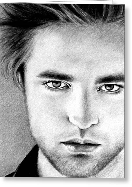 Twilight Drawings Greeting Cards - Robert Greeting Card by Lena Day