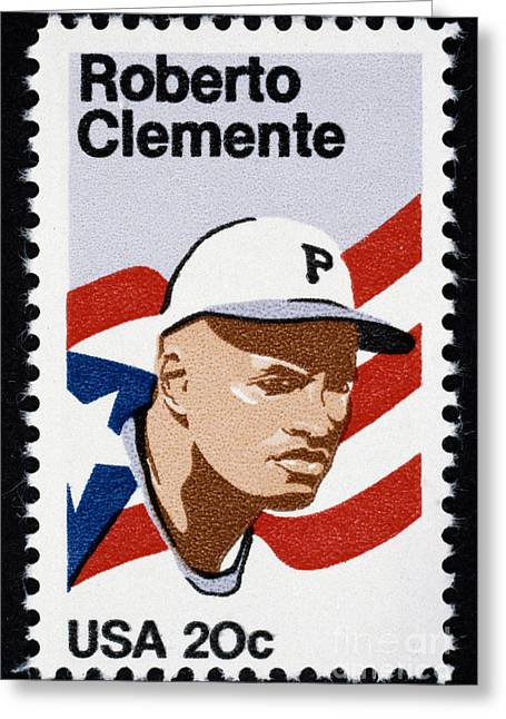 Roberto Greeting Cards - Roberto Clemente Greeting Card by Granger