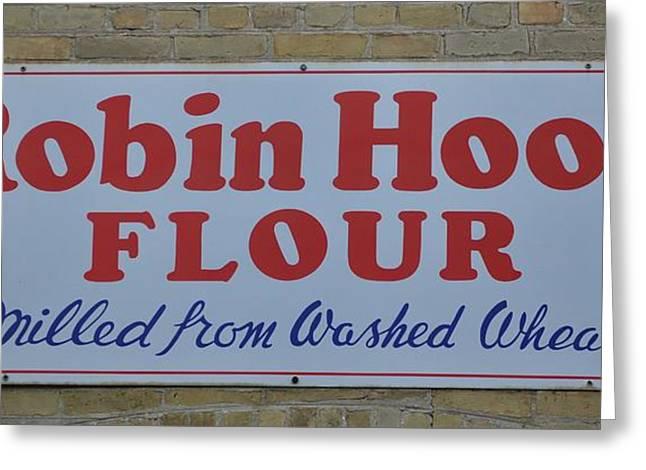 Sign. Cupcakes Greeting Cards - Robin Hood Flour Greeting Card by Daryl Macintyre