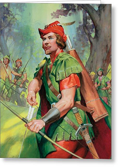 Folklore Greeting Cards - Robin Hood Greeting Card by James Edwin McConnell