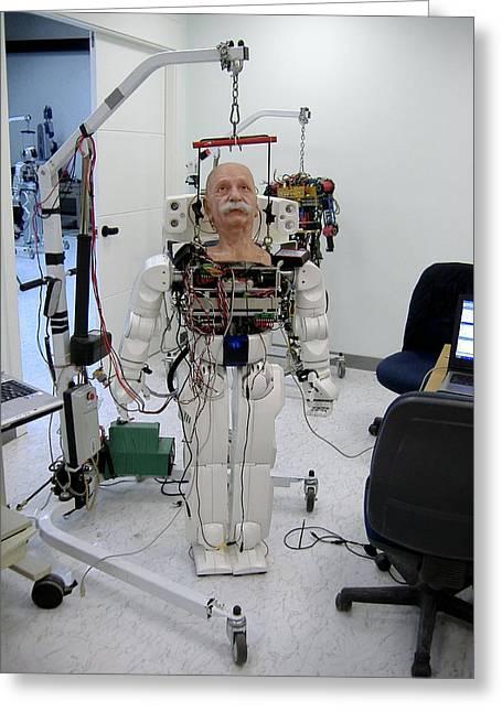Robotics Greeting Cards - Robot Albert Einstein Greeting Card by Volker Steger