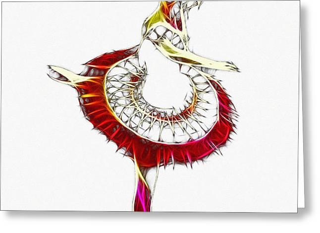 Robot Ballerina Greeting Card by Stefan Kuhn