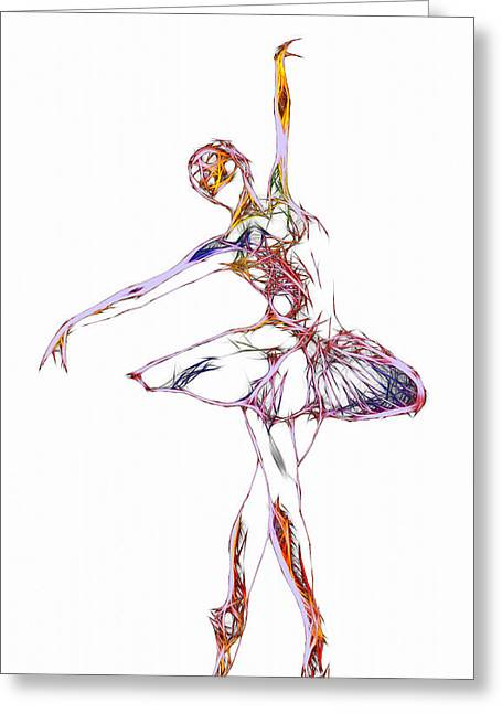 Gracefully Greeting Cards - Robot Diva Greeting Card by Stefan Kuhn