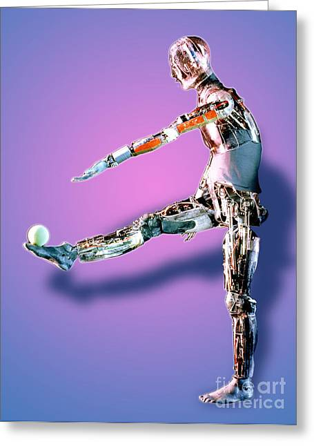 Manny Greeting Cards - Robot Mannequin Greeting Card by DOE / Science Source