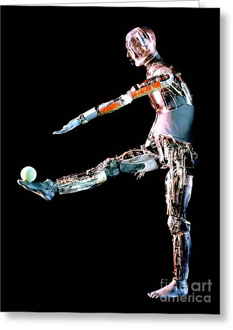 Manny Greeting Cards - Robot Mannequin Used To Test Protective Greeting Card by DOE / Science Source