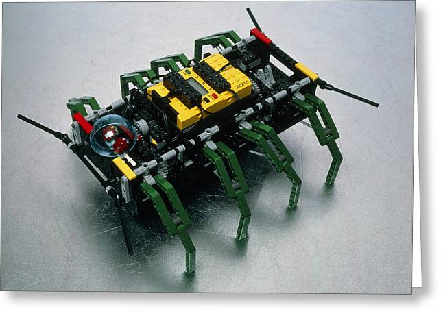 Lego Greeting Cards - Robot Spider Constructed From Lego Greeting Card by Volker Steger