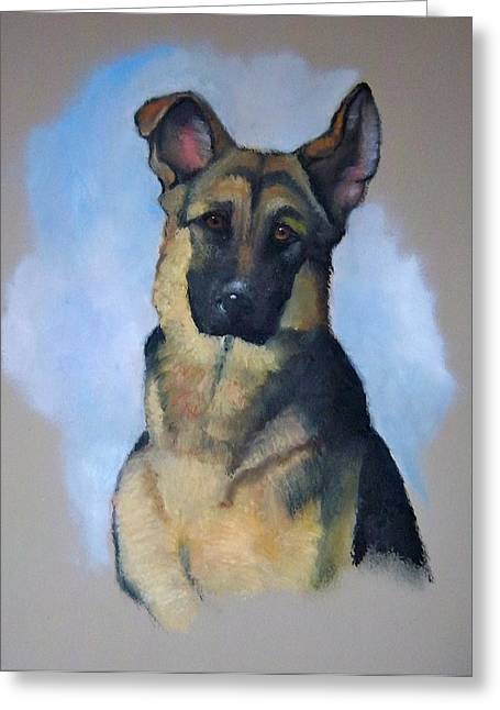 Police Pastels Greeting Cards - Robs Dog Greeting Card by Joyce Geleynse
