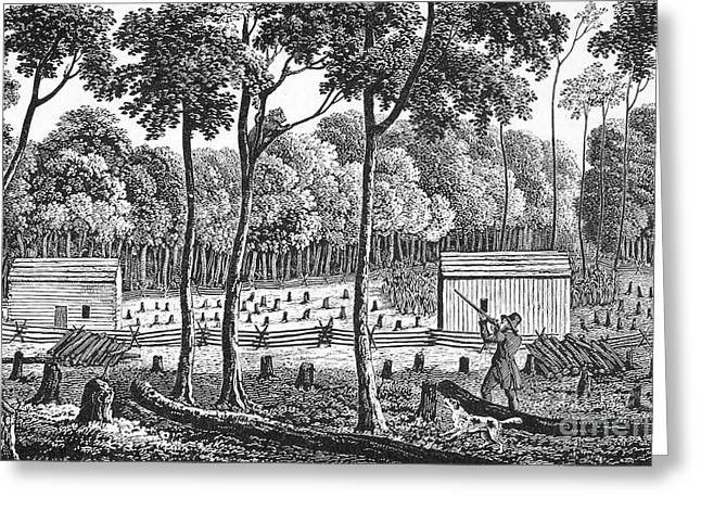 Farmers Field Greeting Cards - Rochester, New York, 1812 Greeting Card by Granger