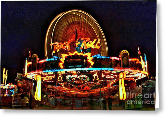 Photographers College Park Greeting Cards - Rock and Roll at the County Fair Greeting Card by Corky Willis Atlanta Photography