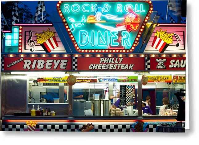 French Fries Greeting Cards - Rock And Roll Diner Greeting Card by Paulette B Wright