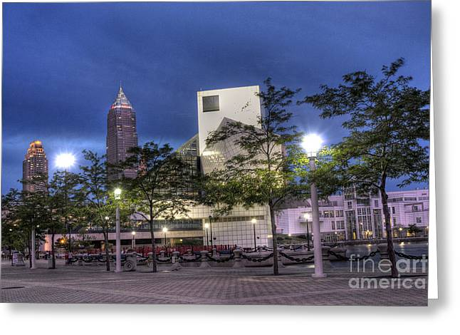 Rock and Roll Plaza Greeting Card by David Bearden