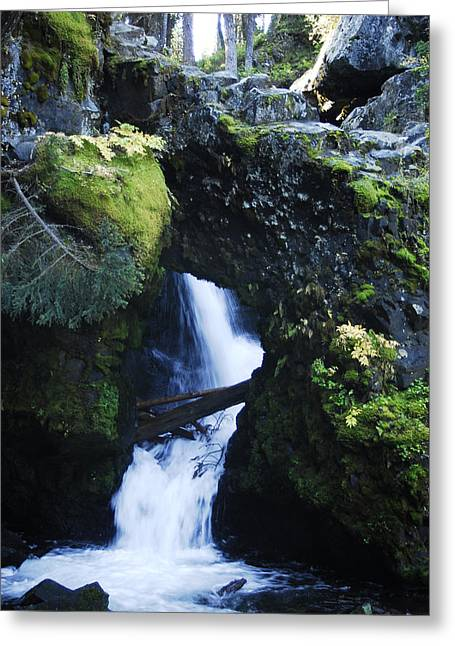 Arlyn Petrie Greeting Cards - Rock Arch Falls Greeting Card by Arlyn Petrie