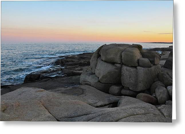 Sohier Park Greeting Cards - Rock at Dawn Greeting Card by Catherine Easton