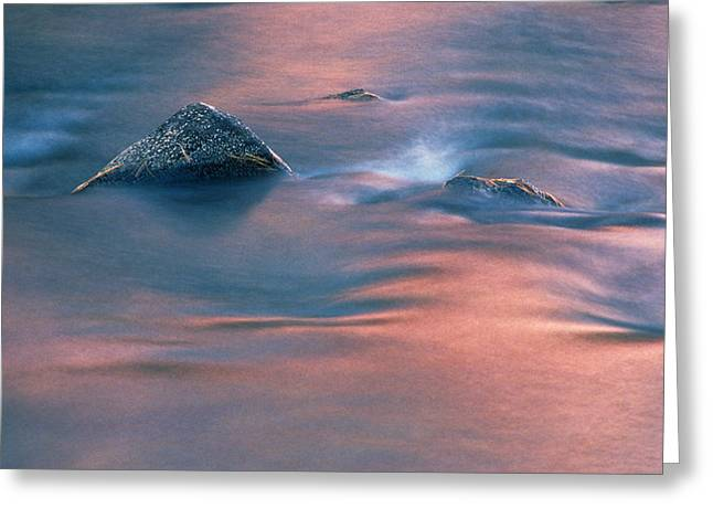 Brookes Greeting Cards - Rock At Dusk, Dryberry Creek Greeting Card by Mike Grandmailson