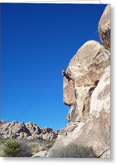 Steve Huang Greeting Cards - Rock Climbing Greeting Card by Steve Huang