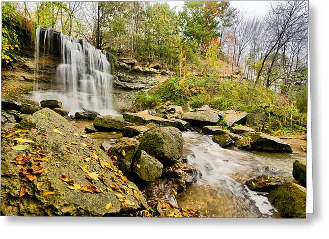 Hdr Landscape Photographs Greeting Cards - Rock Glen Falls Greeting Card by Cale Best