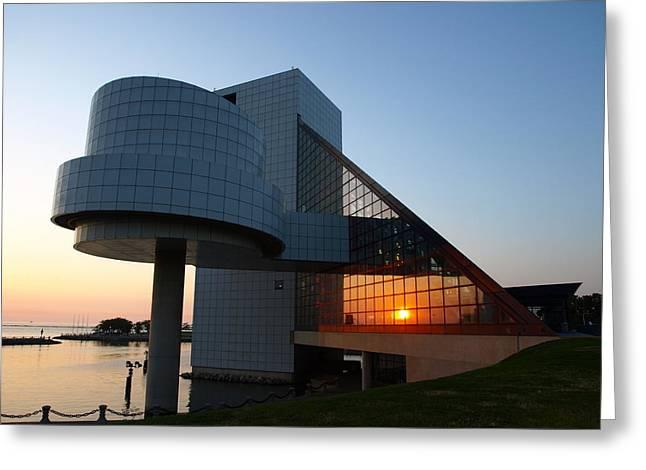 Rock Hall at Sunset Greeting Card by Allan Wrona