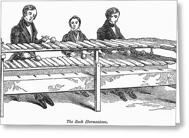 1842 Photographs Greeting Cards - Rock Harmonicon, 1842 Greeting Card by Granger