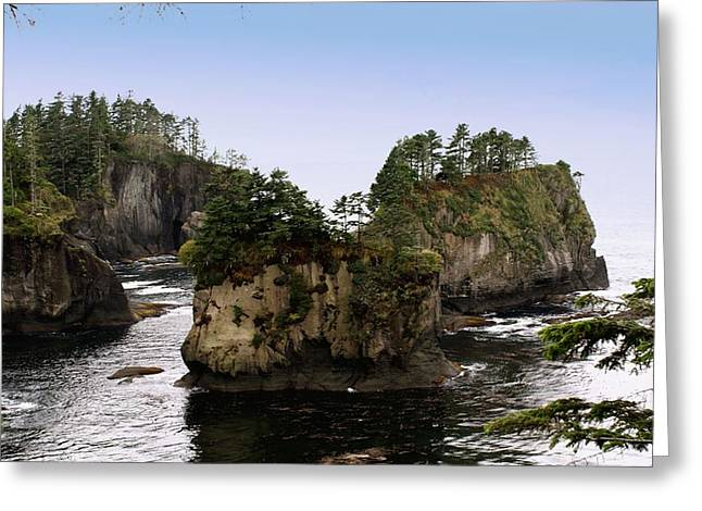 Cape Flattery Greeting Cards - Rock Islands Greeting Card by Christy Leigh