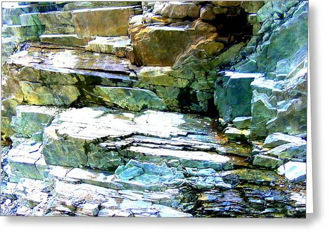 Layered Rock Greeting Cards - Rock Layers Greeting Card by Randall Weidner