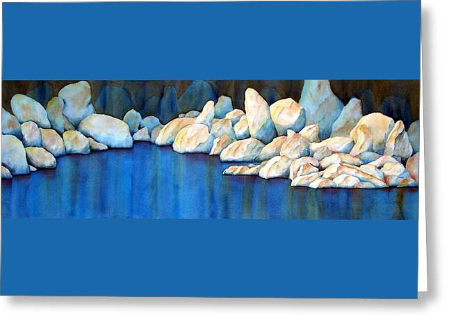 Rock Of Ages Greeting Card by Lyn DeLano