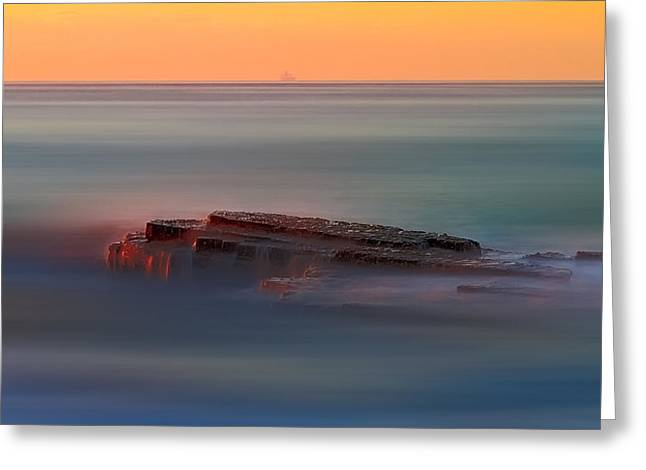Ocean Art Photos Greeting Cards - Rock of Inspiration Greeting Card by Mark Lucey