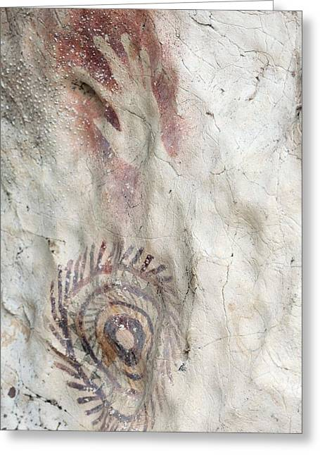 Anthropological Art Greeting Cards - Rock Painting Timor-leste Greeting Card by Louise Murray