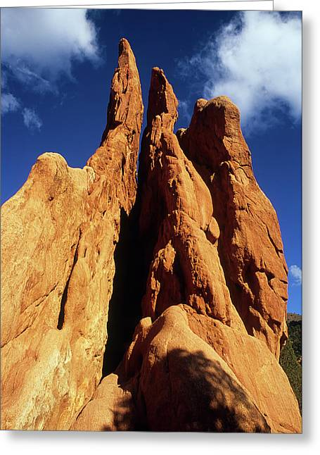 Color_image Greeting Cards - Rock Spires Garden of the Gods Greeting Card by John Brink