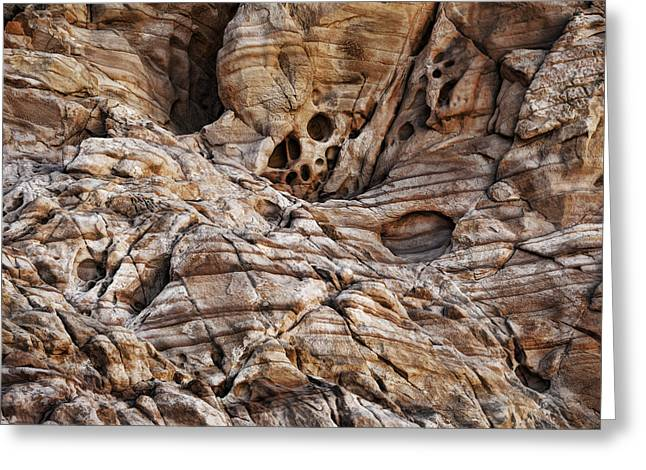 Rock Texture Greeting Cards - Rock Texture Greeting Card by Kelley King
