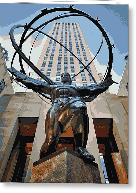 True Melting Pot Greeting Cards - Rockefeller Plaza Color 16 Greeting Card by Scott Kelley