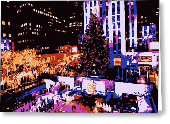 True Melting Pot Greeting Cards - Rockefeller Tree Color 6 Greeting Card by Scott Kelley