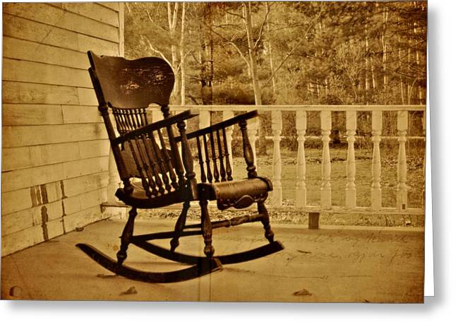 Rocking Chairs Greeting Cards - Rocker Greeting Card by Odd Jeppesen