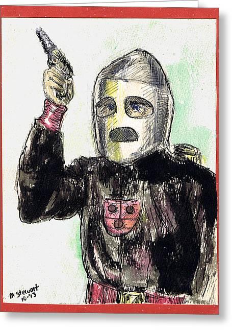 Rocket Man Greeting Card by Mel Thompson