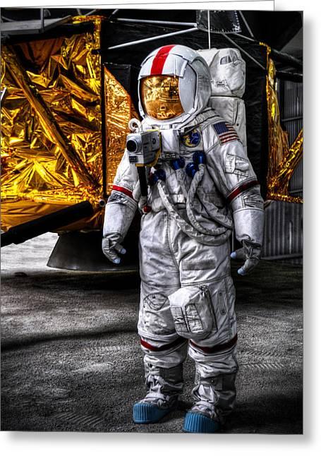 Moon Landing Greeting Cards - Rocketman Greeting Card by Ryan Wyckoff