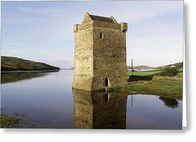 Western Ma Greeting Cards - Rockfleet Castle, Clew Bay, Co Mayo Greeting Card by The Irish Image Collection