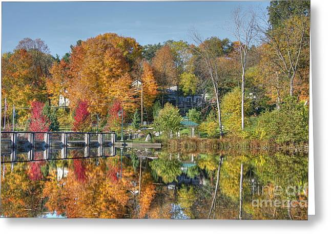 Rockford Greeting Cards - Rockford Michigan in fall Greeting Card by Robert Pearson