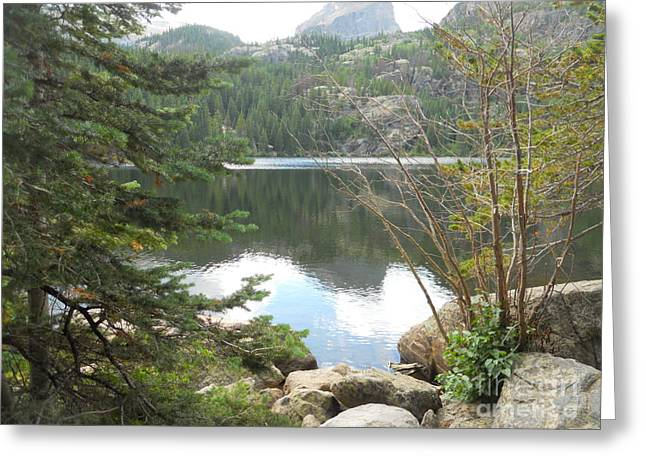 Lakes Sculptures Greeting Cards - Rockies Greeting Card by Vickie Arentz