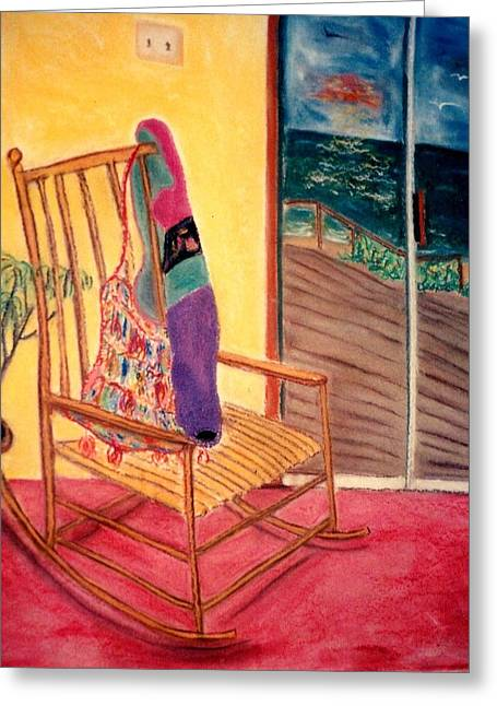 Shoulder Bag Greeting Cards - Rocking Chair Greeting Card by Eliezer Sobel