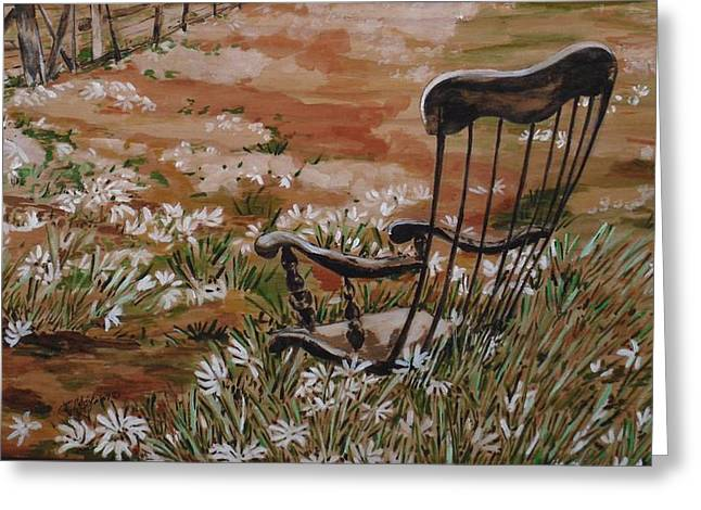 Rocking Chairs Mixed Media Greeting Cards - Rocking Chair No.2 Greeting Card by Christine Marek-Matejka