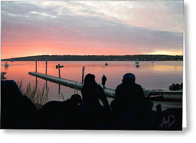 Photorealism Greeting Cards - Rockland Harbor RHtD Greeting Card by Douglas Auld