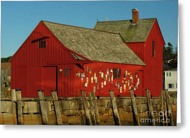 Red Fishing Shack Greeting Cards - Rockport Motif Number 1 Greeting Card by Juergen Roth