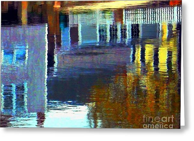 Buildings Reflecting In Water Greeting Cards - Rockport Reflections Greeting Card by Dale Ford