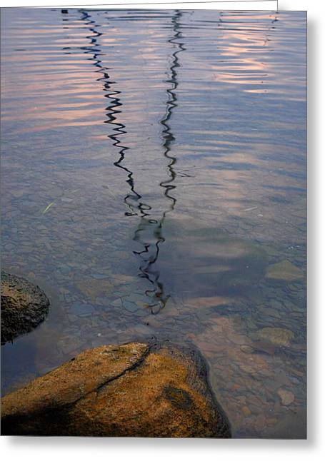 Finger Lakes Greeting Cards - Rocks And Reflection Greeting Card by Steven Ainsworth