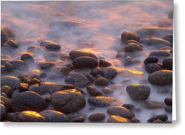 Rocks And Surf At Sunset Garrapata Greeting Card by Sebastian Kennerknecht