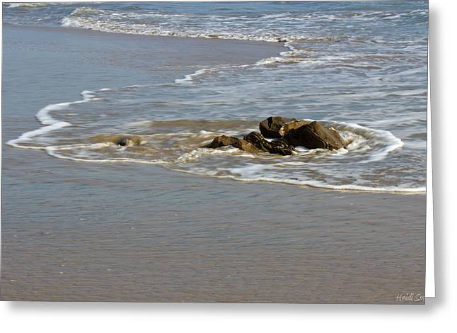 Geologic Formations Greeting Cards - Rocks At Crystal Cove Greeting Card by Heidi Smith
