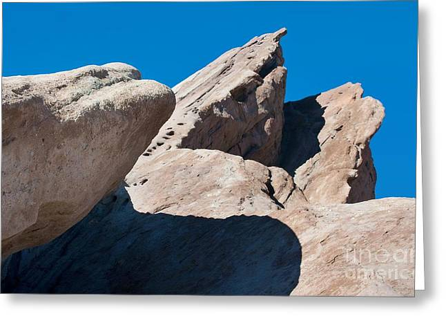 Rocks In Perspective Greeting Card by Dan Holm