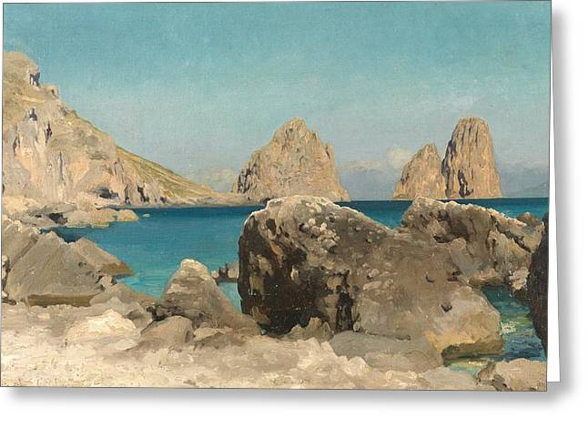 Italian Islands Greeting Cards - Rocks of the Sirens Greeting Card by Frederic Leighton