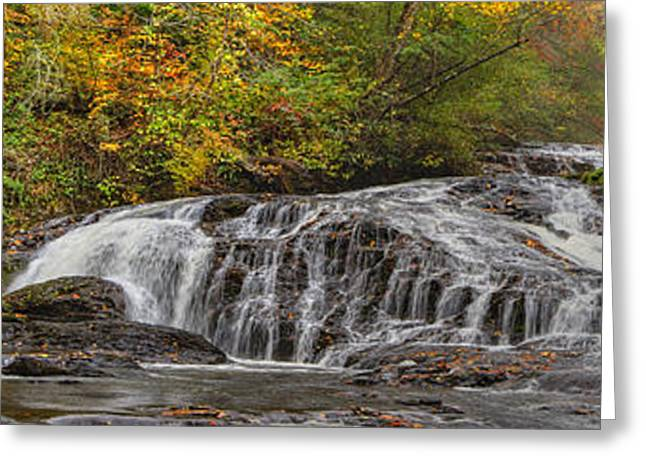 Tn Greeting Cards - Rocky Cascade Greeting Card by Debra and Dave Vanderlaan