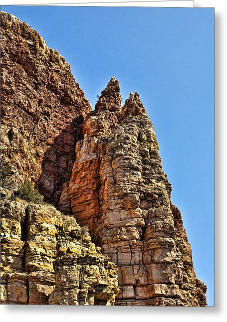 Rugged Cliffs Greeting Cards - Rocky Cliff Greeting Card by Jon Berghoff