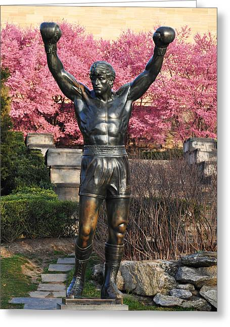 Stallone Digital Art Greeting Cards - Rocky In Spring Greeting Card by Bill Cannon